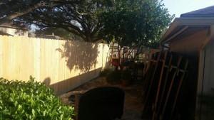 cedar fence with rot board