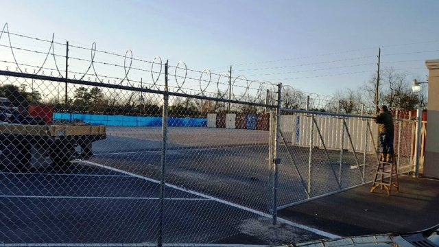 Custom commercial chain fence gates